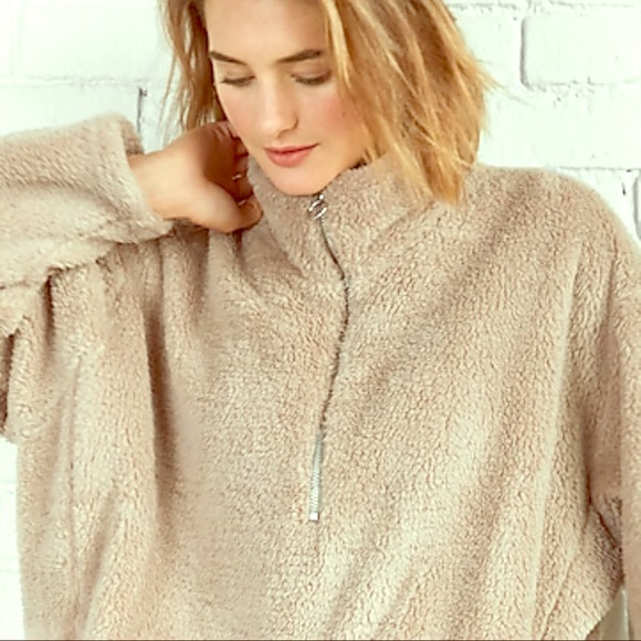 Express Jackets & Blazers - Over sized fleece quarter zip
